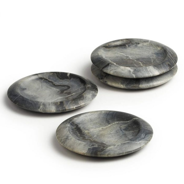 Grey Marble Coasters In Gift Box (Set Of 4)