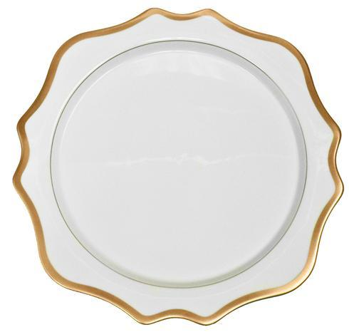 Anna Weatherley Antique White with Gold Charger