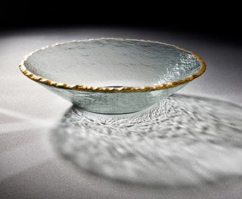 Annie Glass Edgey Round Bowl, 13.5""