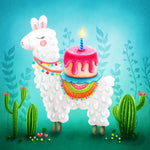 Zen Peapod Puzzle For Kids - Birthday Llama