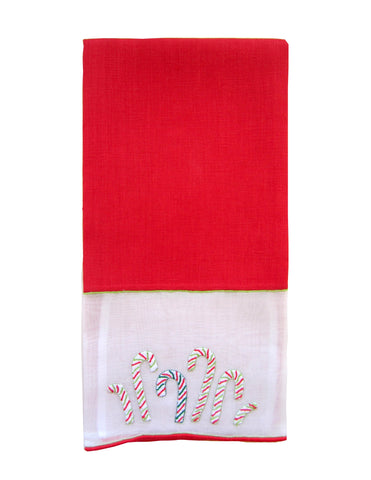 Candy Cane Guest Towel