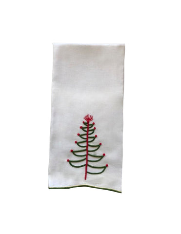 Cut Out Tree Guest Towel