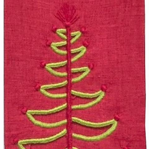Cut Out Tree Fingertip Towel