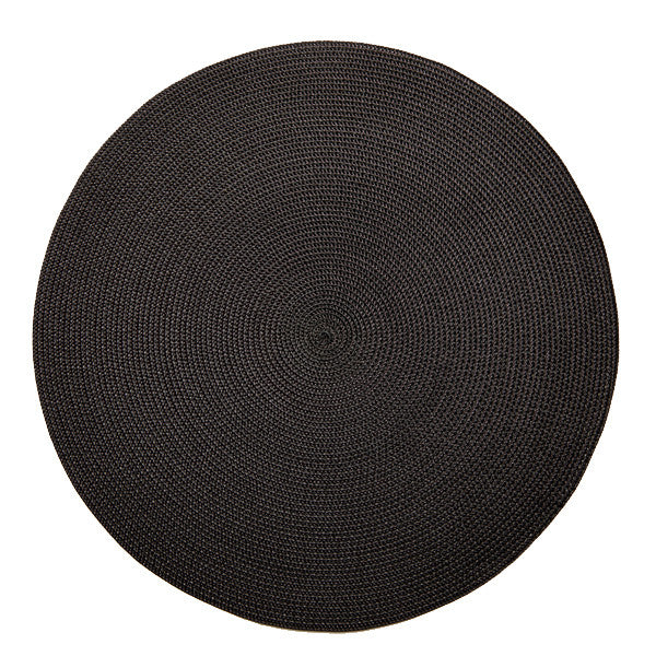 Deborah Rhodes Round Placemat, Black/Brown