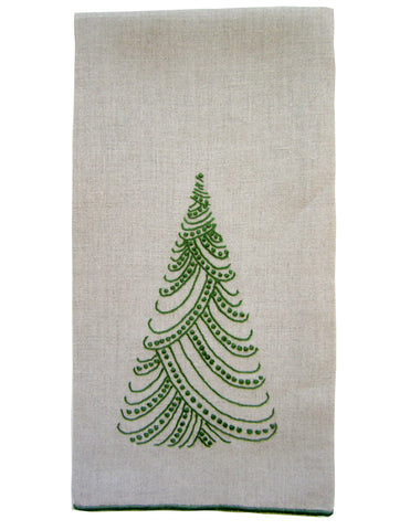 Dotted Tree Guest Towel