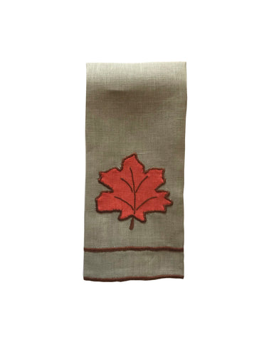 Fall Leaves Fingertip Towel