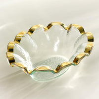 Annie Glass Ruffle Dip Bowl