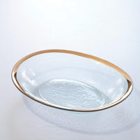 Annie Glass Roman Antique Large Oval Serving Bowl