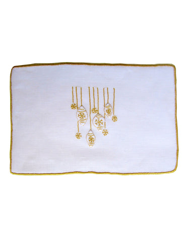 Gold Ornament Cocktail Napkin