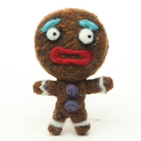 Woolbuddy Gingerbread Man Ornament