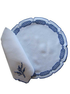Imperial Blue Placemat and Napkin