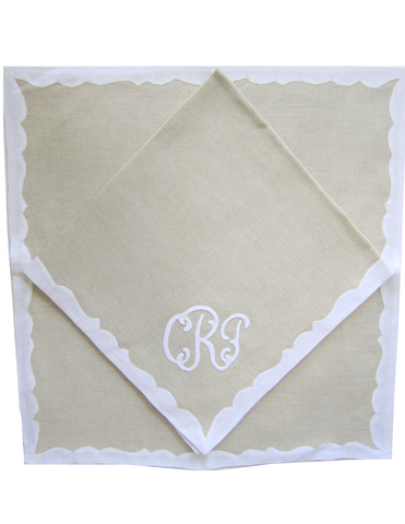 Mistral Placemat and Napkin with Monogram