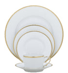 Raynaud Fontainebleau Gold 5 Piece Place Setting