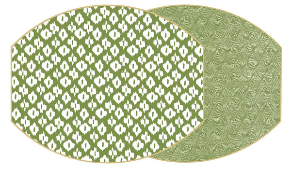 Holly's Two-Sided Dot/Ikat Ellipse Placemat