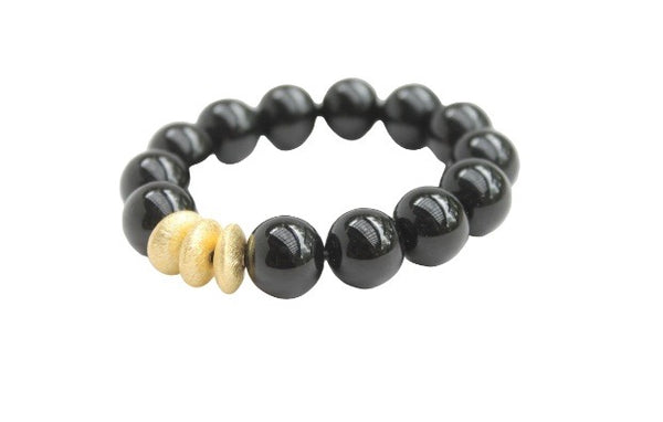 Hazen & Co. Sheldon Bracelet, Smooth Black Onyx