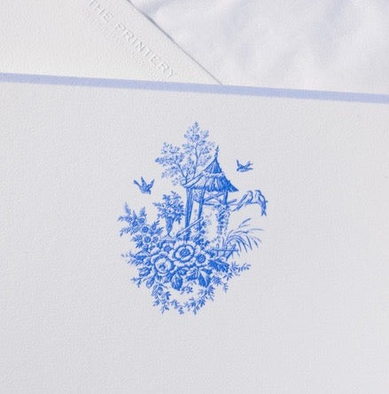 Blue Toile Notecards