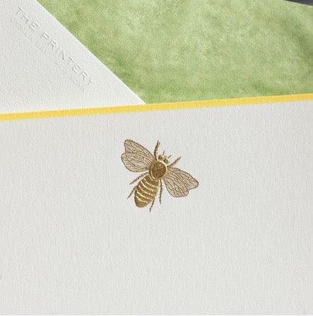 Gold Bee Notecards