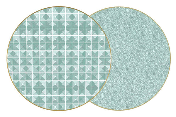Holly's Two-Sided Dot Fan/Key Round Placemat