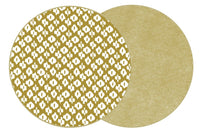Holly's Two-Sided Dot Fan/Ikat Round Placemat