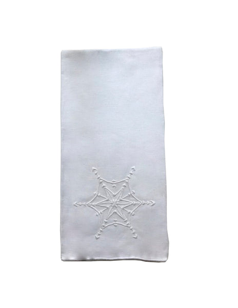 White Snowflake Guest Towel