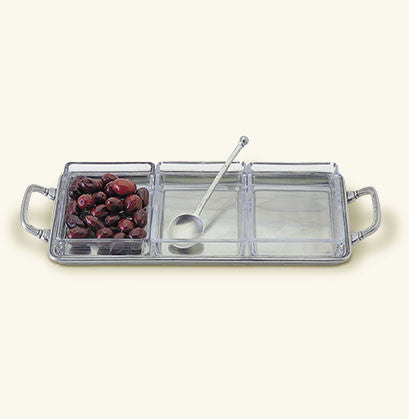 Crudité Tray with Handles