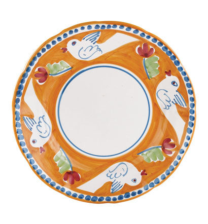 Vietri Campagna Dinner Plate, Bird