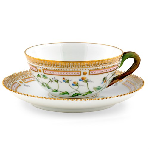 Royal Copenhagen Flora Danica Tea Cup and Saucer