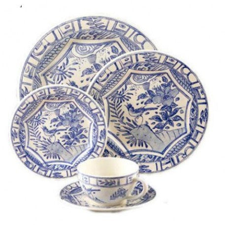 Gien Oiseau Blue and White Place Setting
