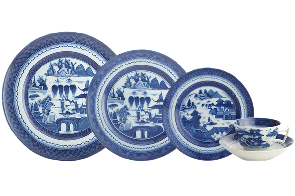 Mottahedeh BLUE CANTON 5PC PLACE SETTING