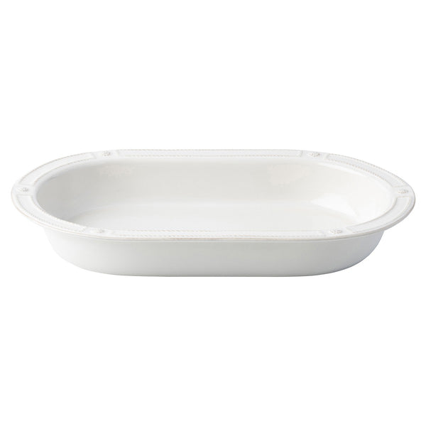 "Berry & Thread French Panel Whitewash 17"" Oval Baker"