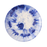 Al Fresco Splatter and Spin Melamine Indigo Dinner Plate