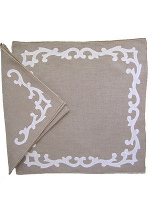 Mandarin Border Placemat and Napkin
