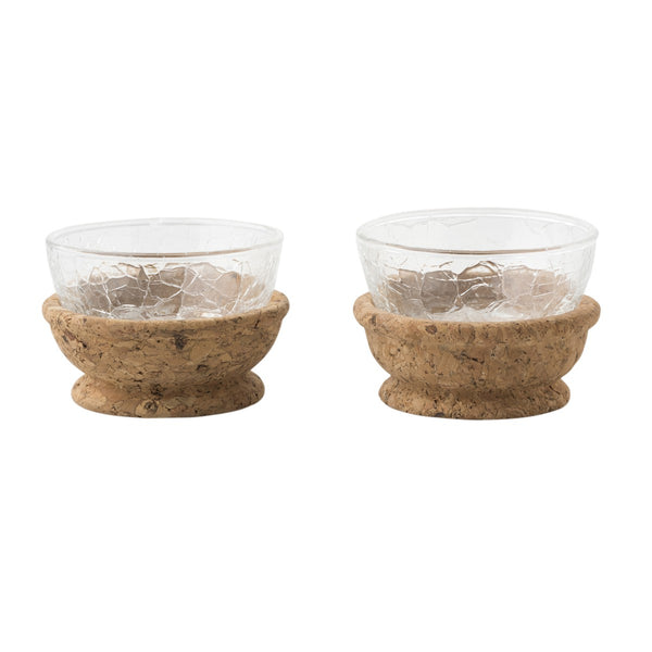 Quinta Hugo Natural Pinch Bowls Set/2
