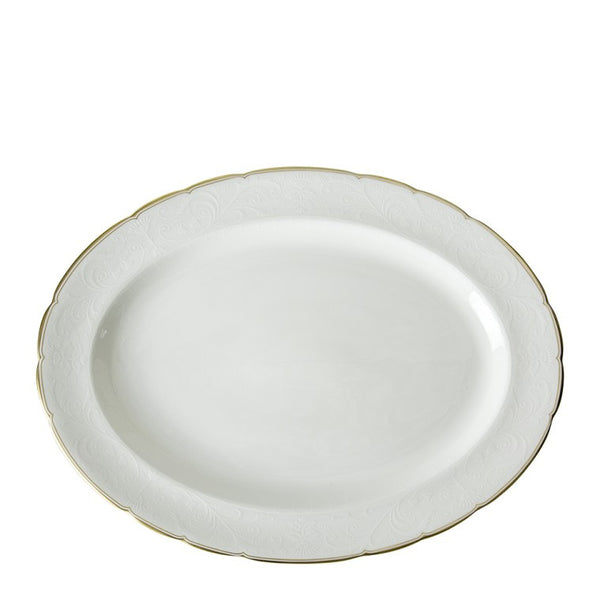 Darley Abbey Pure Gold Large Oval Dish