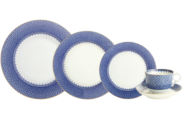 Mottahedeh BLUE LACE 5PC PLACE SETTING