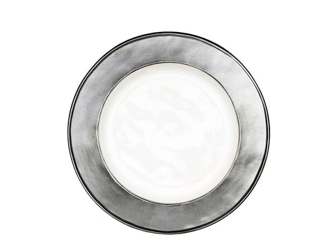 Emerson White/Pewter Side Plate