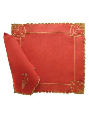 Tobacco Leaf Placemat and Napkin