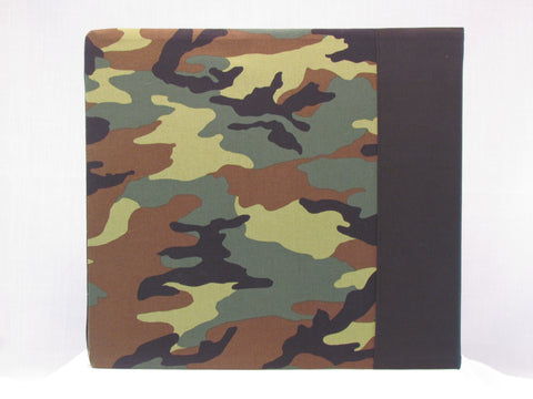 12x12 Postbound Fabric Scrapbook Photo Album Camo Camoflauge Army