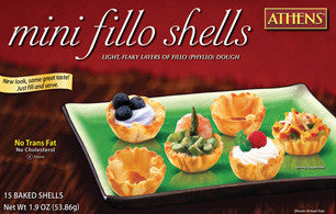 Mini Fillo Shells (Athens) 15 Baked Shells, 1.9 oz (53.86g) - Parthenon Foods