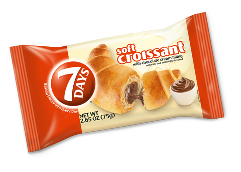 7 Days Soft Croissant with Chocolate, 75g - Parthenon Foods
