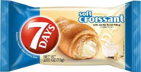 7 Days Soft Croissant with Vanilla, 75g - Parthenon Foods