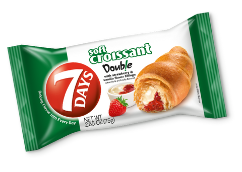 7 Days Soft Croissant with Strawberry and Vanilla, 75g - Parthenon Foods