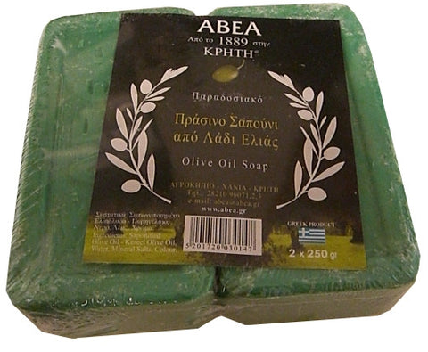 Olive Oil Soap, Green (ABEA) 2 x 250g - Parthenon Foods