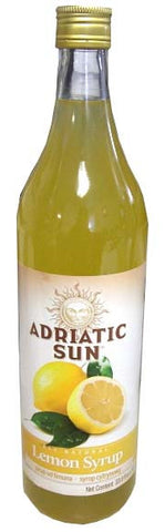 Lemon Syrup (Adriatic Sun) 33.8 fl oz (1L) - Parthenon Foods