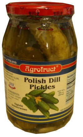 Polish Dill Pickles (Agrofruct) 30fl.oz. (887ml) - Parthenon Foods