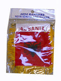 Albanian Flag with String and Suction Cap, 4x6 in. - Parthenon Foods