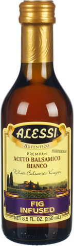 White Balsamic Fig Infused Vinegar (Alessi) 8.5 fl. oz. - Parthenon Foods