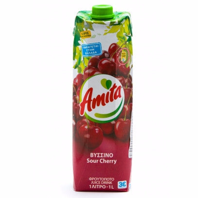 Sour Cherry Juice Drink (amita) 1L - Parthenon Foods