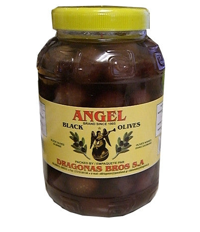 Greek Black Olives (Angel) 2 kg (4.4 lb) - Parthenon Foods