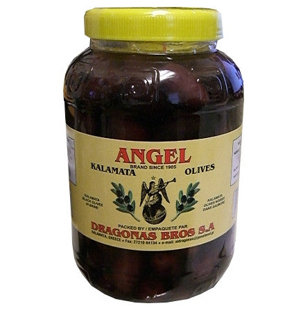 Kalamata Olives (Angel) 1 kg (2.2 lb) Plastic - Parthenon Foods